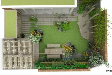Voorbeeld 3D tuinontwerp natuurlijke achtertuin Amersfoort