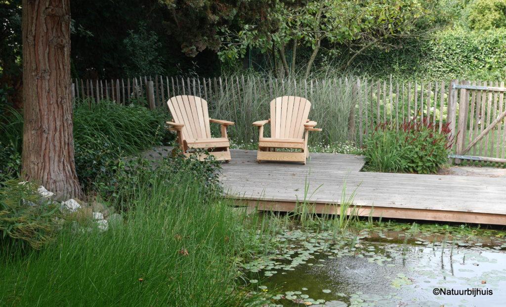 natuurlijke zwemvijver ontwerp natuurbijhuis kastanje hekwerk