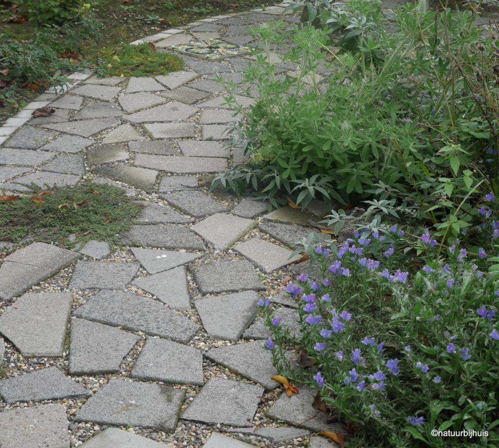 hergebruik tegels gezamenlijke tuin