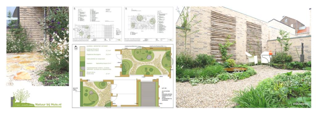 tuinontwerp patio en voortuin nieuwbouw