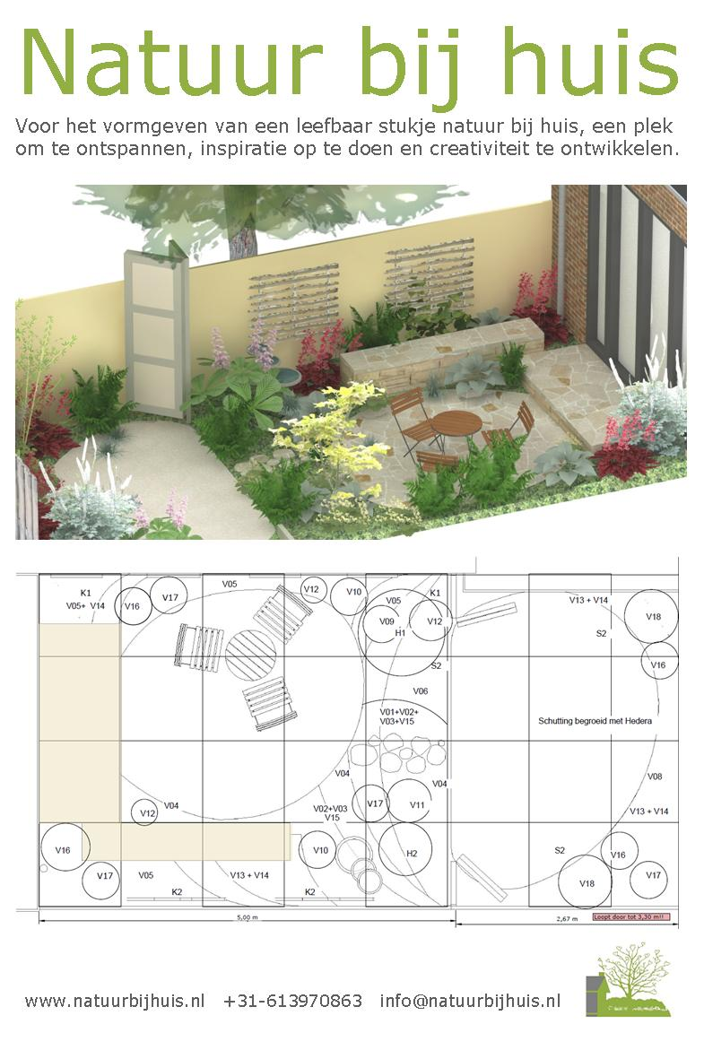 patio tuinontwerp beplantingsplan