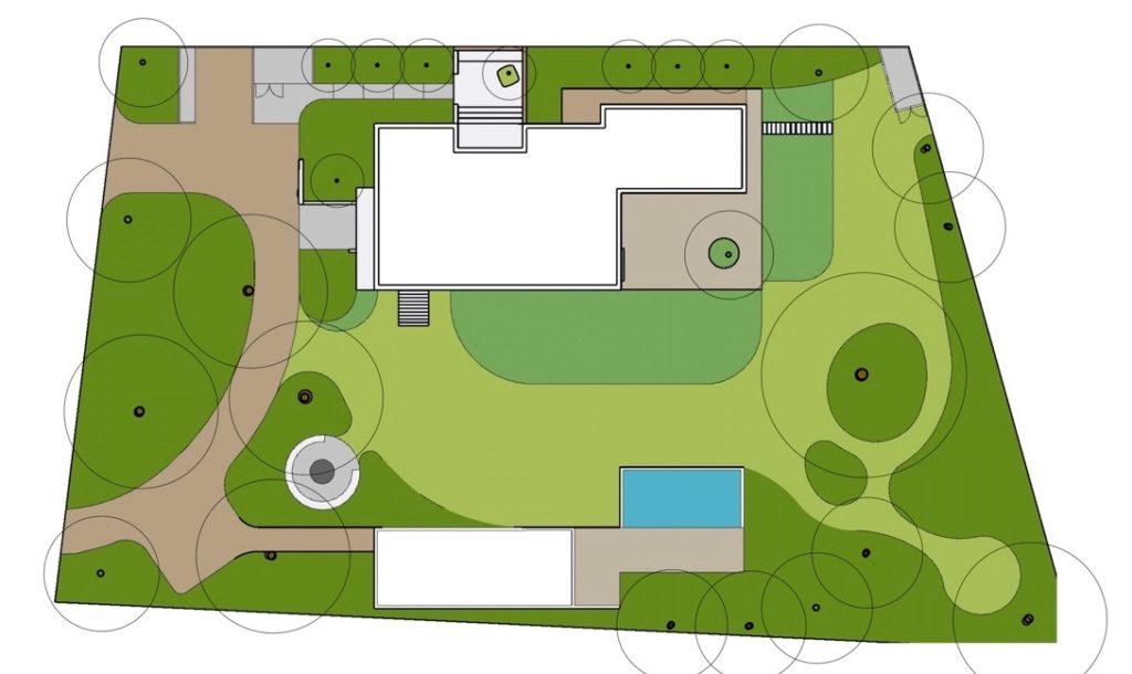 tuinontwerp bosperceel villa Natuur bij huis