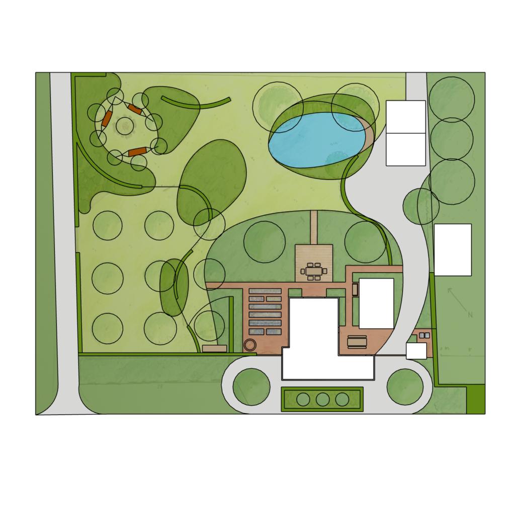 boerderijtuin tuinontwerp natuur bij huis boerenerf landgoed IJsselvliedt