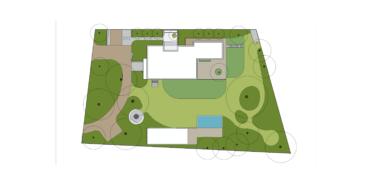 tuinontwerp met zwembad natuur bij huis