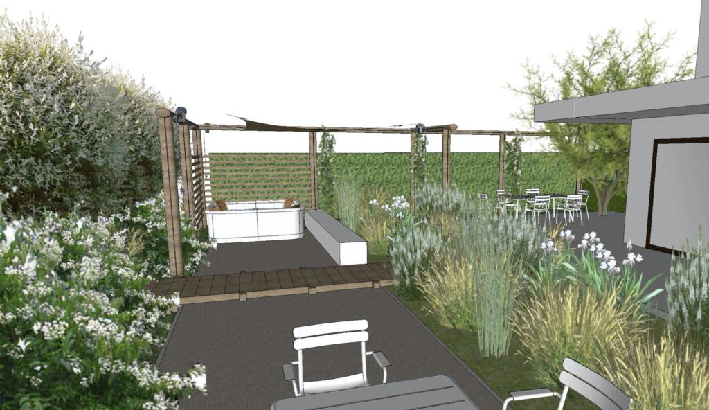 natuurbijhuis tuinontwerp nieuwbouw 3d